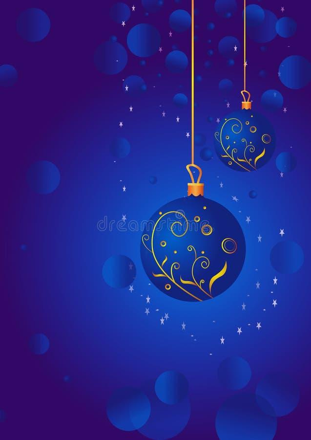 Weihnachtshängende Kugel lizenzfreie abbildung