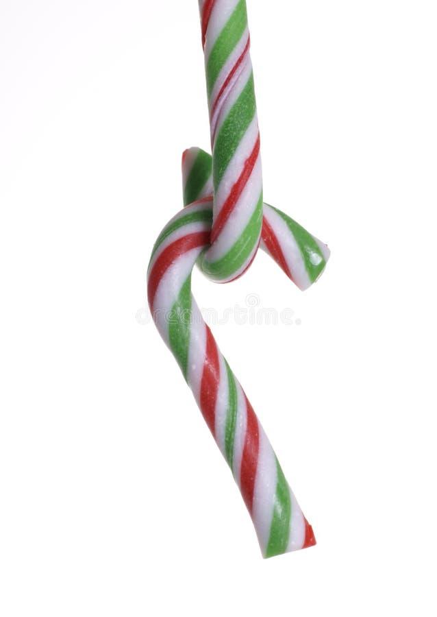 Weihnachtshängende Zuckerstange stockfoto