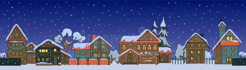 Weihnachtshäuser vektor abbildung