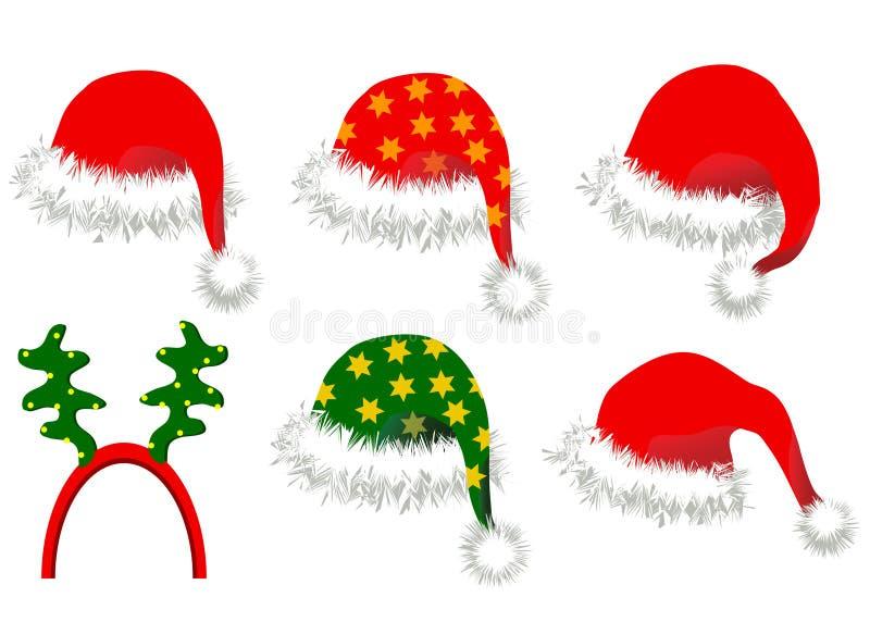 Weihnachtshüte stock abbildung