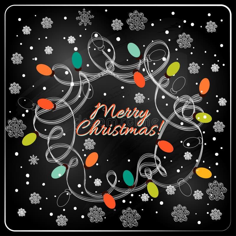 Weihnachtshand gezeichneter Pelzbaum für Weihnachtsdesign stock abbildung