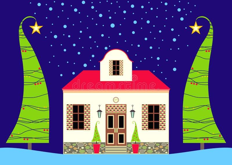 Weihnachtshaus vektor abbildung