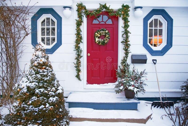Weihnachtshaus stockfotografie