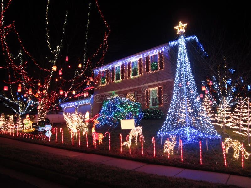 Weihnachtshaus Springfield-Virginia stockfotografie