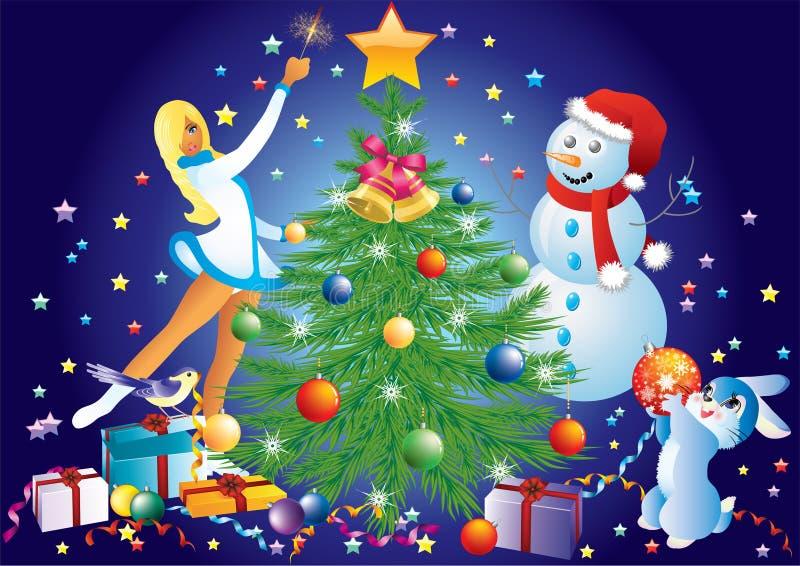 Weihnachtshintergrund. lizenzfreie abbildung