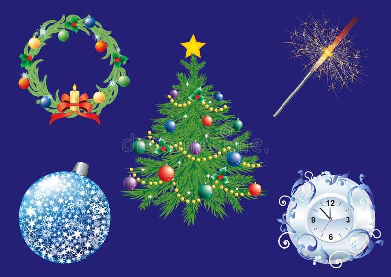 Weihnachtshintergrund. stock abbildung