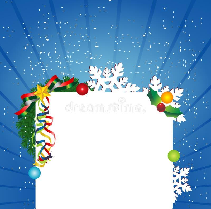 Weihnachtshintergrund-Auslegung lizenzfreie abbildung