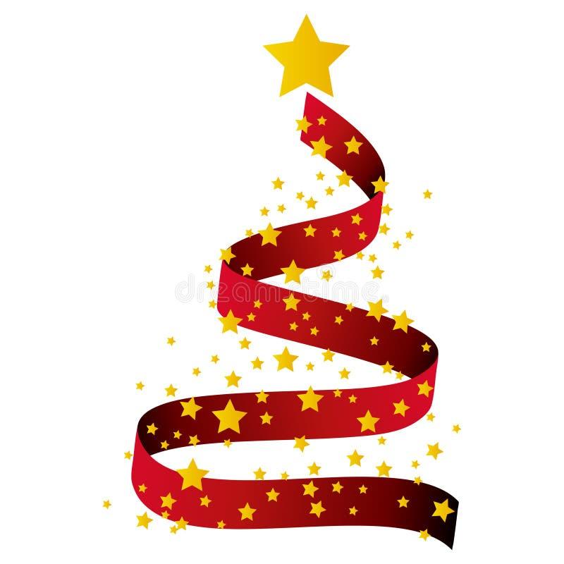 Weihnachtshintergrund, Baum - Abbildung lizenzfreie abbildung