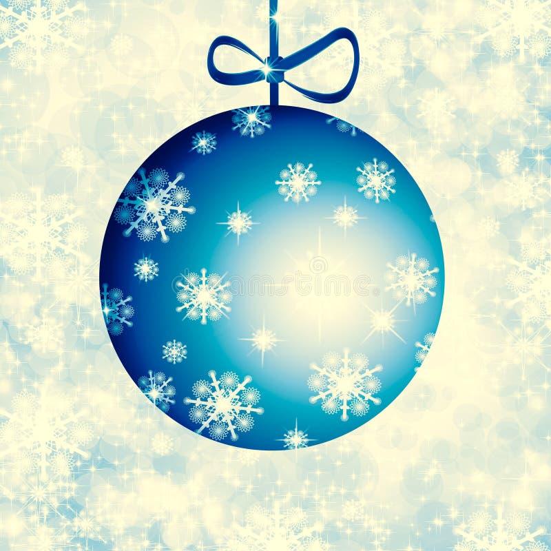 Weihnachtshintergrund-Blaubälle vektor abbildung