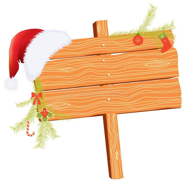Weihnachtshintergrund für Text mit Feiertag lizenzfreie abbildung