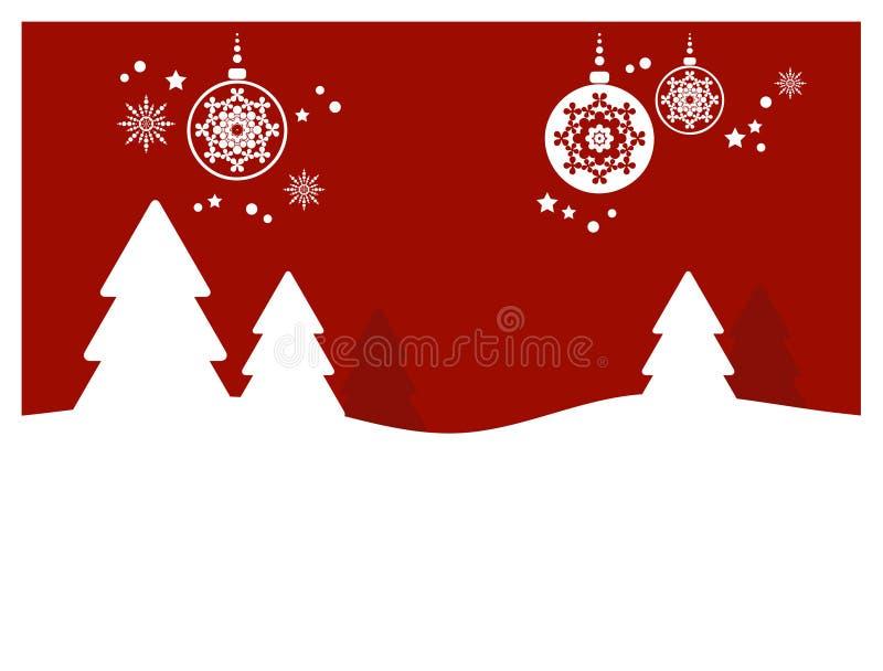 Weihnachtshintergrund (ii) stock abbildung