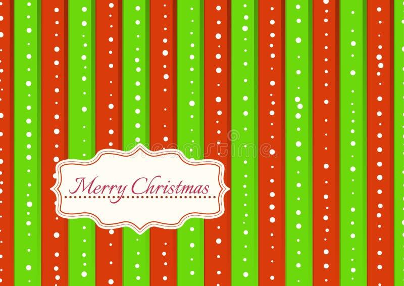 Weihnachtshintergrund mit den grünen und roten Streifen lizenzfreie abbildung