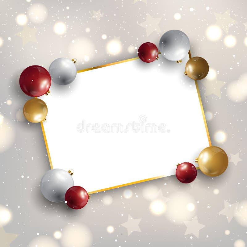 Weihnachtshintergrund mit Flitter und Leerstelle für Text vektor abbildung