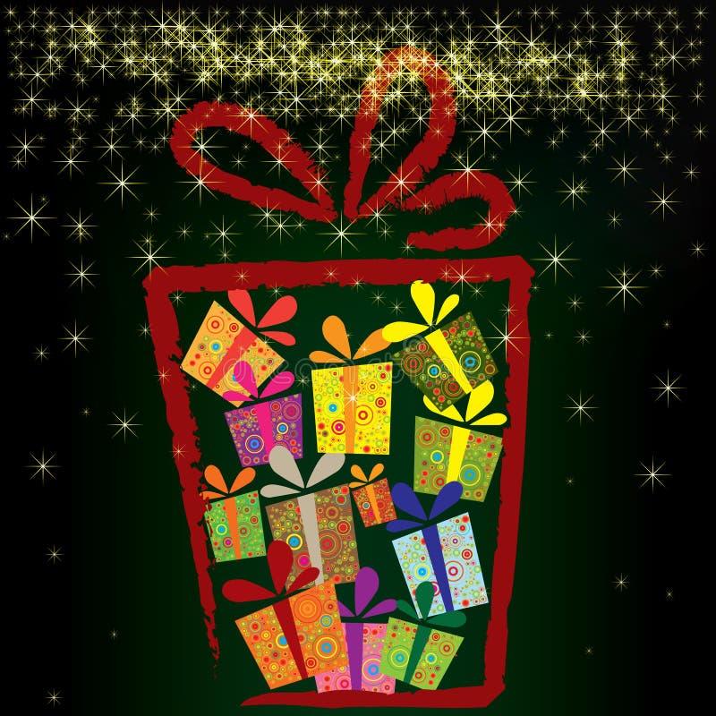 Weihnachtshintergrund mit Geschenkkästen vektor abbildung
