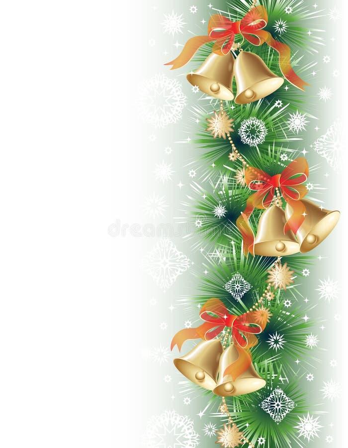 Weihnachtshintergrund mit Glocken lizenzfreie abbildung