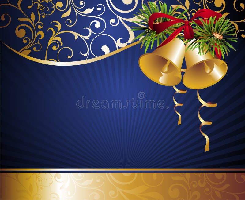 Weihnachtshintergrund mit Glocken stock abbildung
