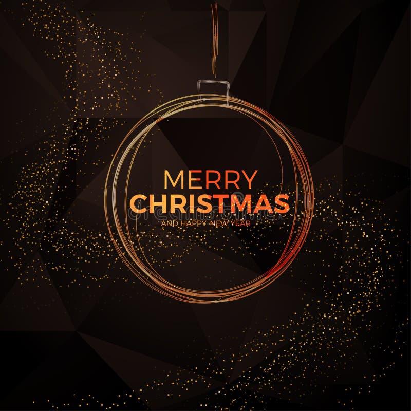 Weihnachtshintergrund mit Goldmagischem Stern Auch im corel abgehobenen Betrag vektor abbildung