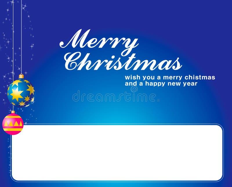 Weihnachtshintergrund mit Kugel und Kennsatz für Messa stock abbildung