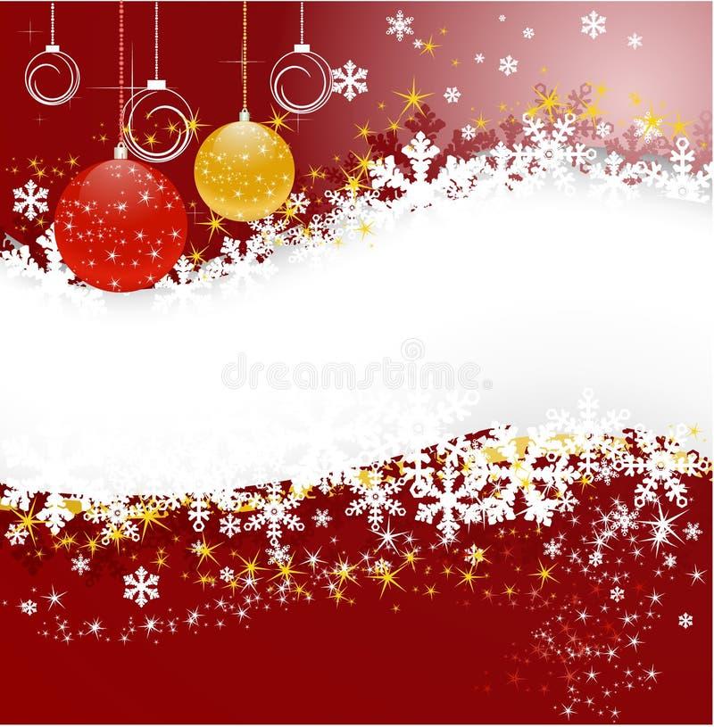 Weihnachtshintergrund mit Kugeln stock abbildung