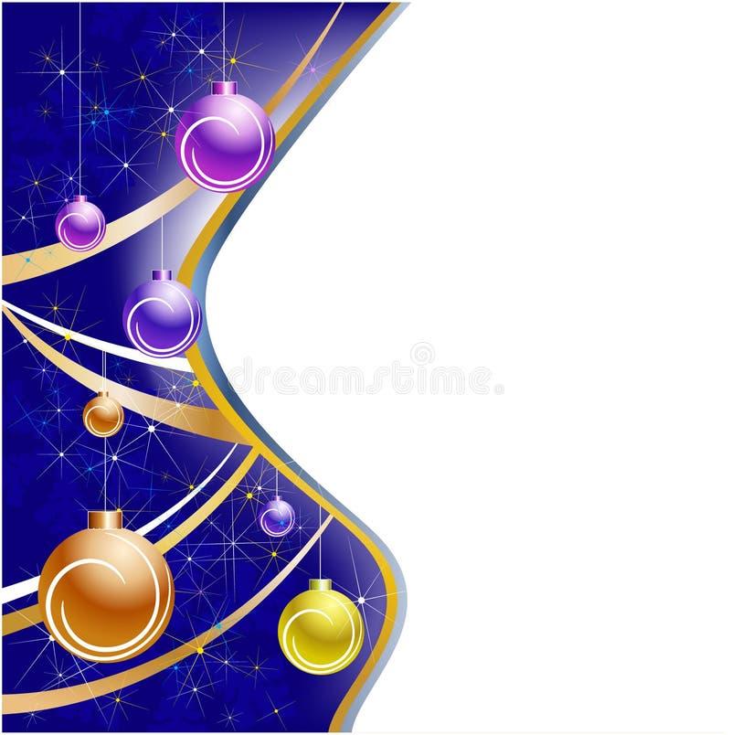 Weihnachtshintergrund mit Luftblasen stock abbildung