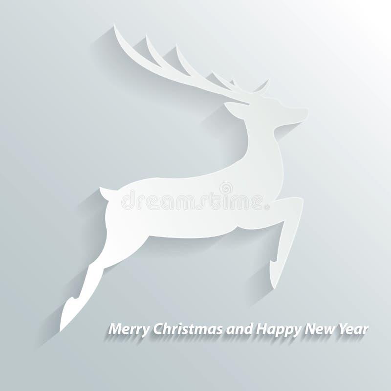 Weihnachtshintergrund mit Ren stock abbildung