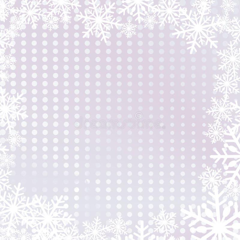 Weihnachtshintergrund mit Schneeflocken lizenzfreie abbildung