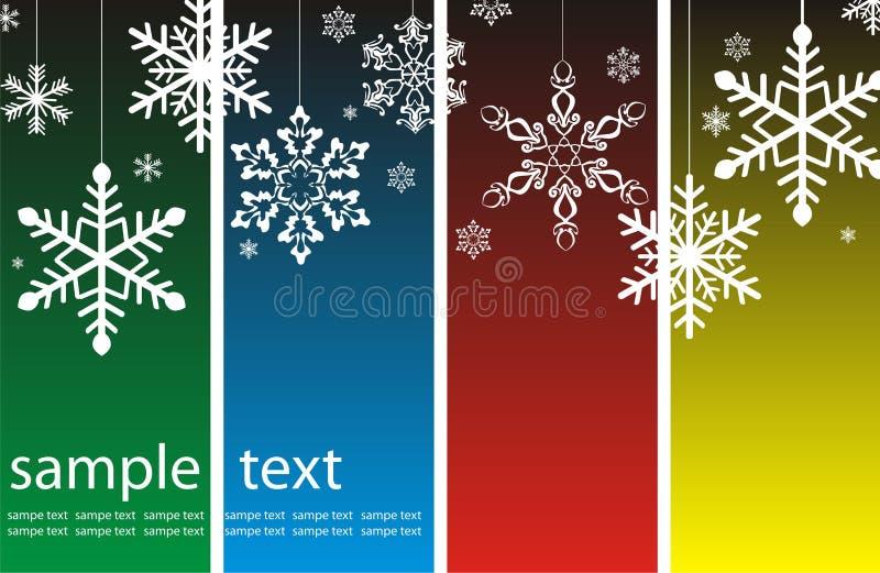 Weihnachtshintergrund mit Schneeflocken vektor abbildung