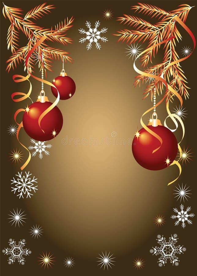 Download Weihnachtshintergrund Mit Serpentin Und Kugeln Vektor Abbildung - Illustration von pinsel, jahreszeit: 12202338