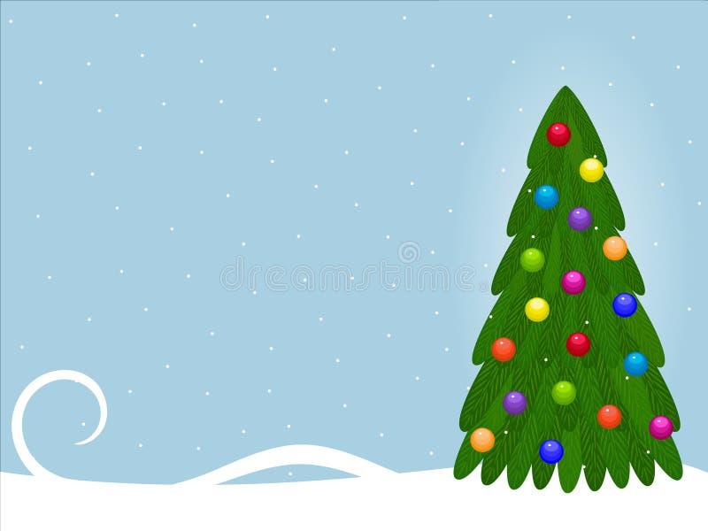 Weihnachtshintergrund mit Tannenbaum lizenzfreie abbildung