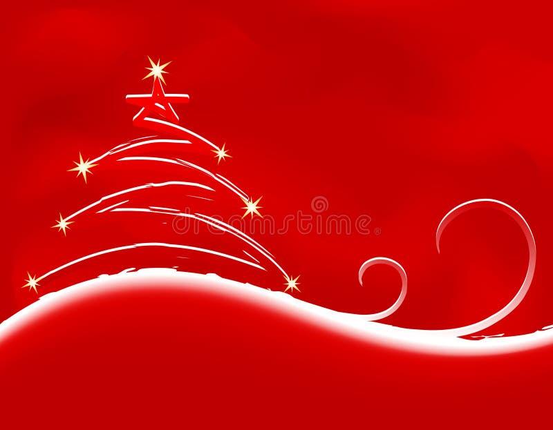 Weihnachtshintergrund mit Tannenbaum vektor abbildung