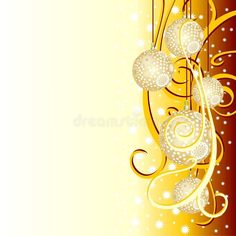 Weihnachtshintergrund mit Tannenkugeln vektor abbildung