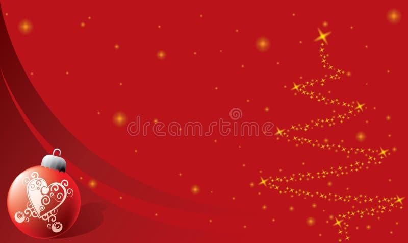 Weihnachtshintergrund mit Verzierung stock abbildung