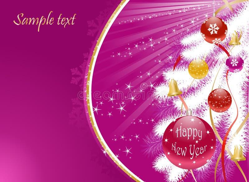 Weihnachtshintergrund mit weißem Baum stock abbildung