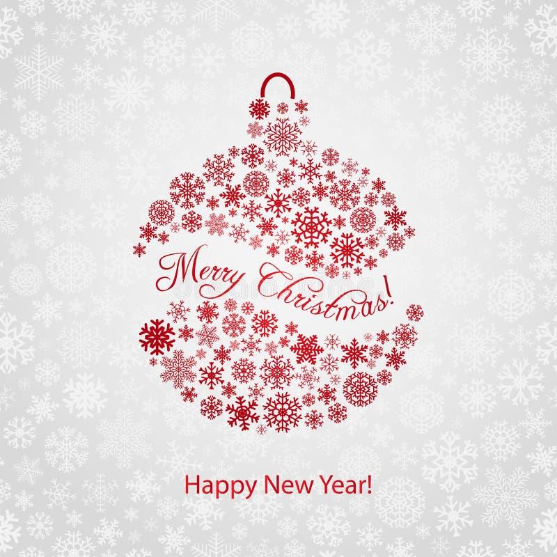Weihnachtshintergrund mit Weihnachtsball vektor abbildung