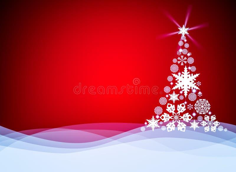 Weihnachtshintergrund mit Weihnachtsbaum stock abbildung