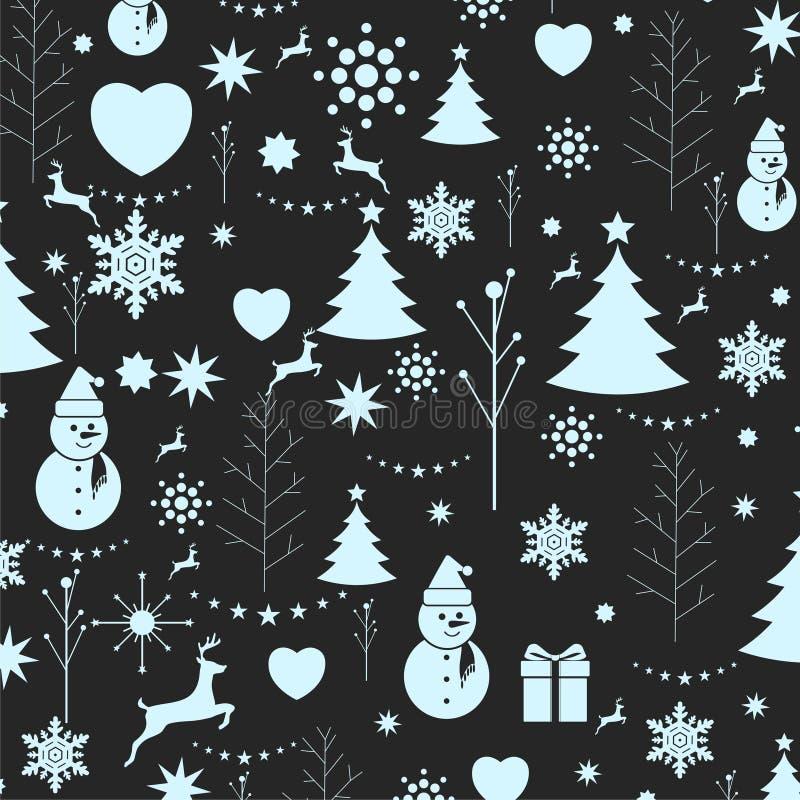 Weihnachtshintergrund, nahtloser Tiling, große Wahl für die Verpackung lizenzfreie abbildung