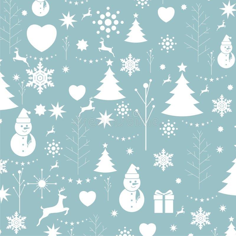 Weihnachtshintergrund, nahtloser Tiling, große Wahl für die Verpackung stock abbildung