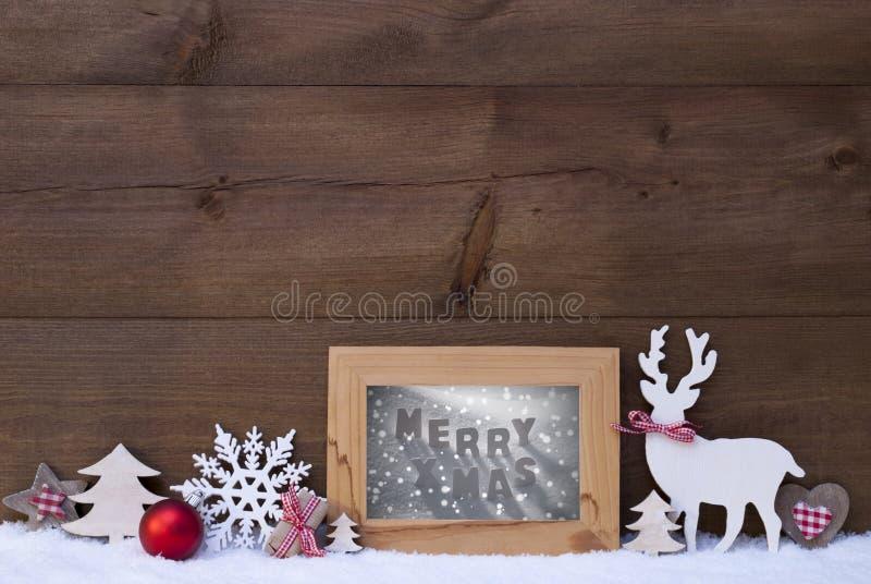 Weihnachtshintergrund-Schnee-Rahmen-fröhliches Weihnachten stockbilder