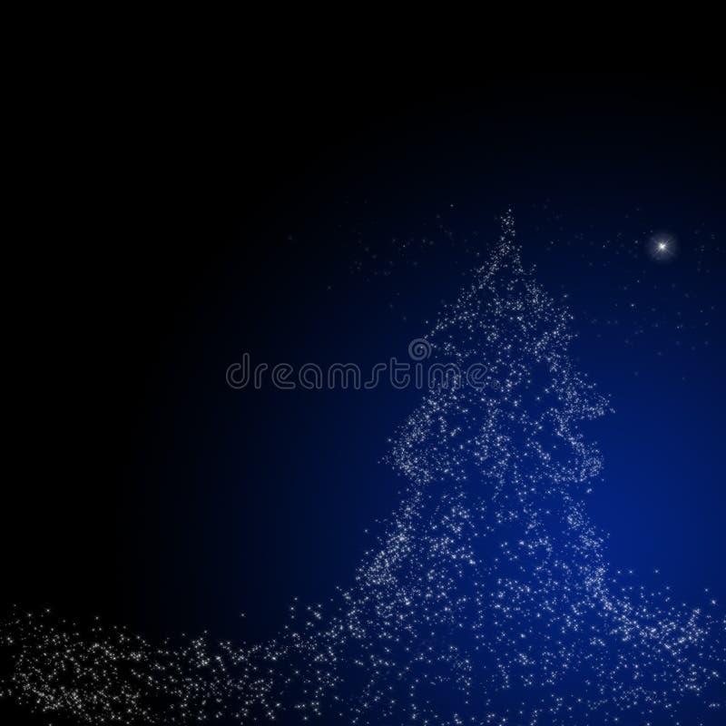 Weihnachtshintergrund: Stern von Bethlehem lizenzfreie abbildung
