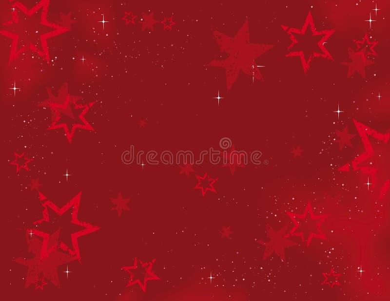 Weihnachtshintergrund-Sterne lizenzfreie abbildung