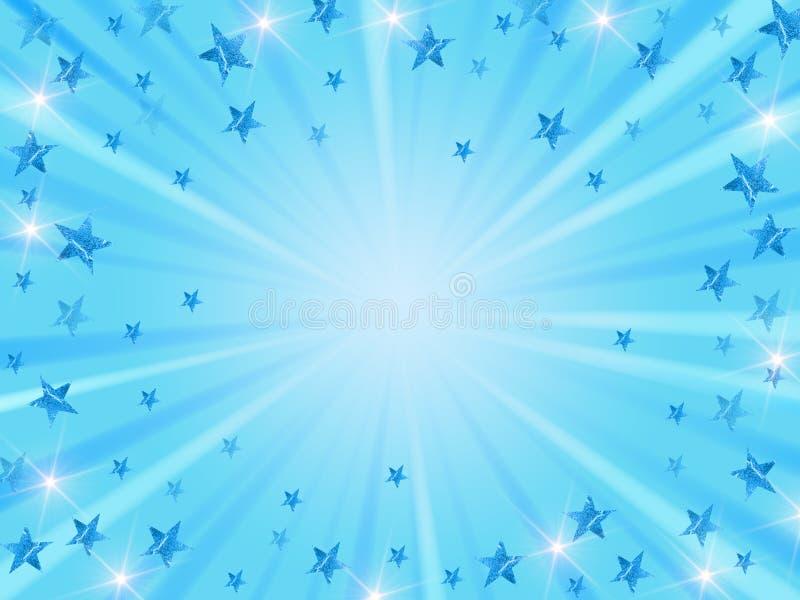 Weihnachtshintergrund strahlen im Blau aus vektor abbildung