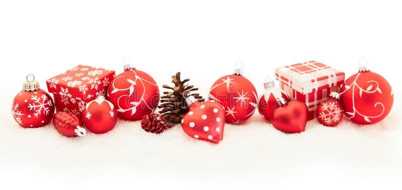 Weihnachtshintergrundfahne im Rot stockfotos