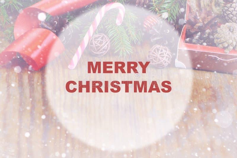 Weihnachtshintergrundkreis stockfoto