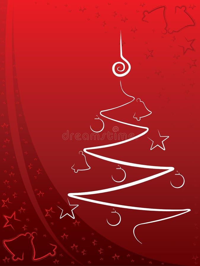 Weihnachtshintergrundrot lizenzfreie abbildung