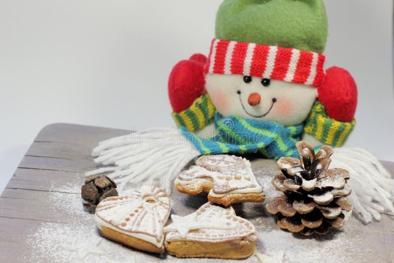 Weihnachtshonigkuchen stockbilder