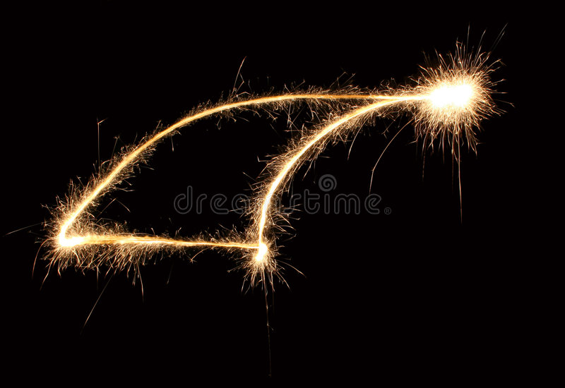 Weihnachtshut Sparkler lizenzfreie stockfotografie