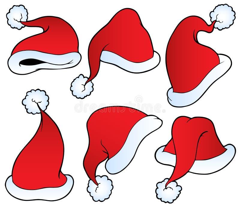 Weihnachtshutansammlung lizenzfreie abbildung