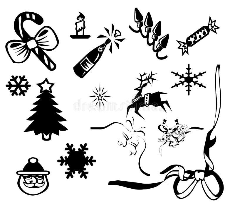 Weihnachtsikone vektor abbildung