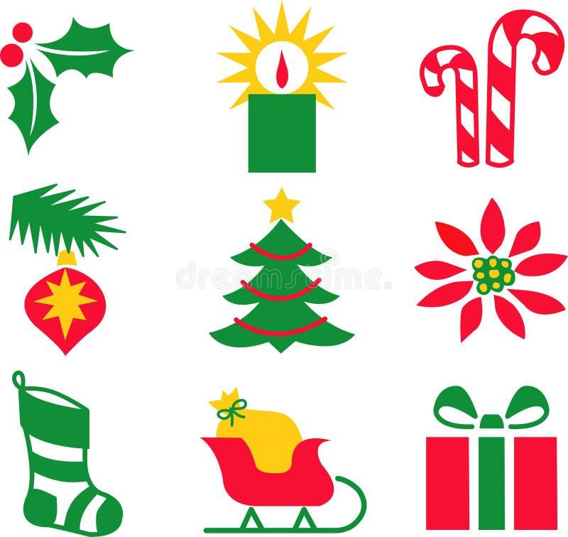 Weihnachtsikonen/ENV stock abbildung