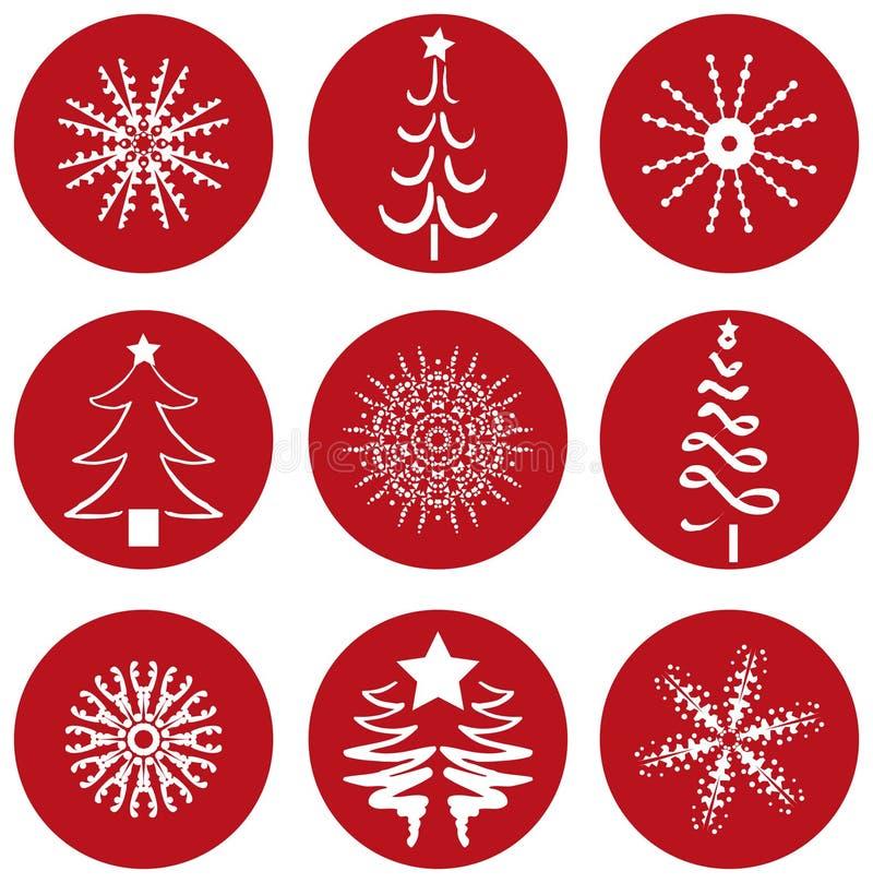 Weihnachtsikonen-Ikonen lizenzfreie abbildung